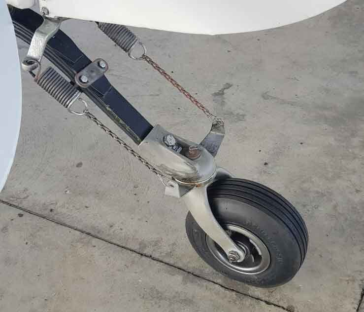 The most important part in a tail wheel aircraft, the Tail Wheel. This one is in great shape.