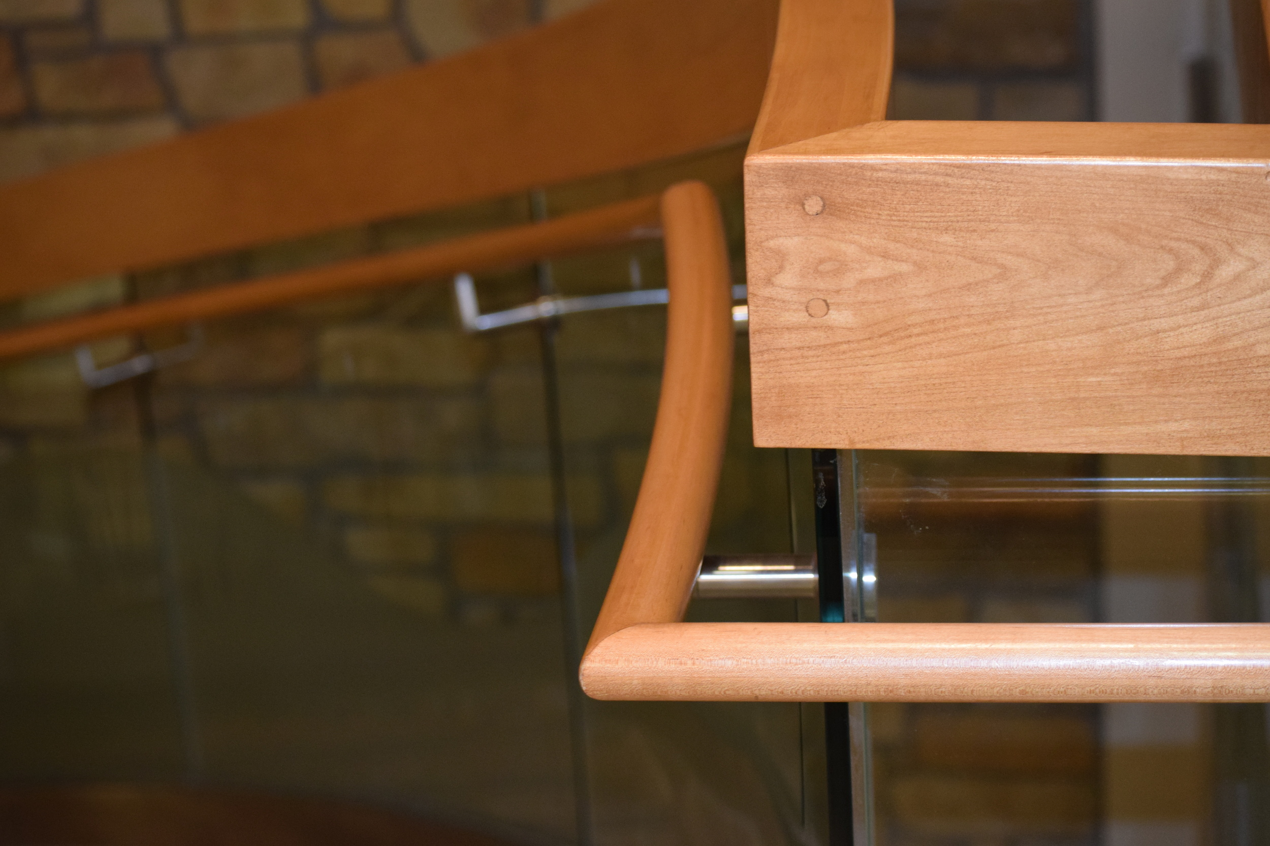 ARKANSAS CHILDREN'S HOSPITAL  Little Rock, AR  Wood guardrail and handrails