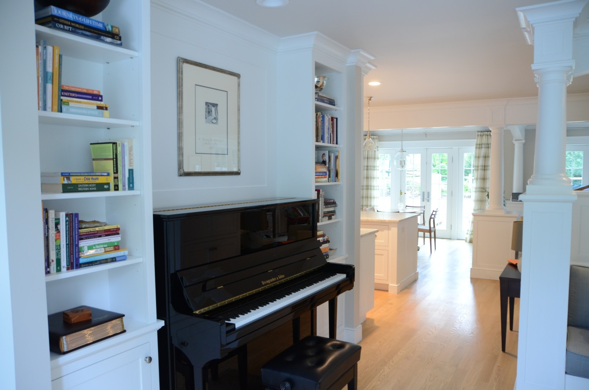 Darien LEED Home - Piano shelves