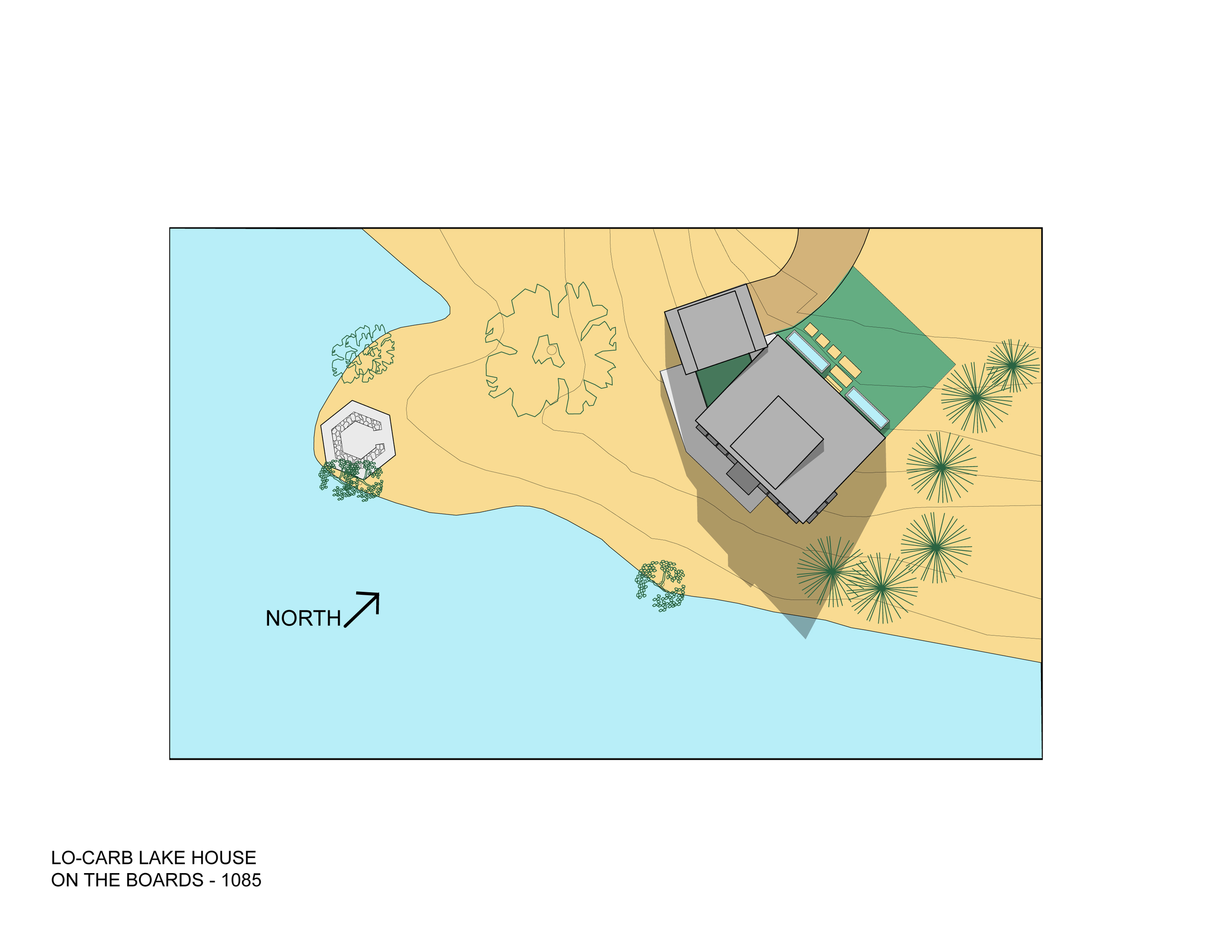Trillium Architects Lo Carb Lake House Site Plan