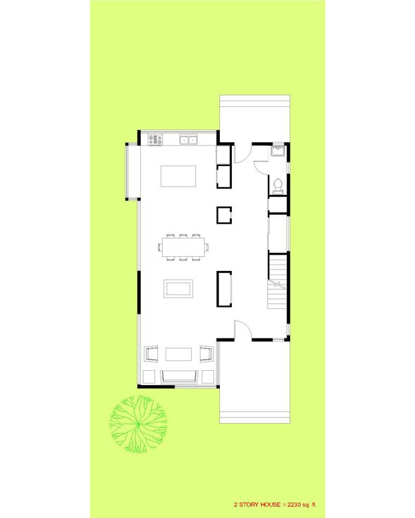 Trillium Architects 2 story modern First Floor Plan