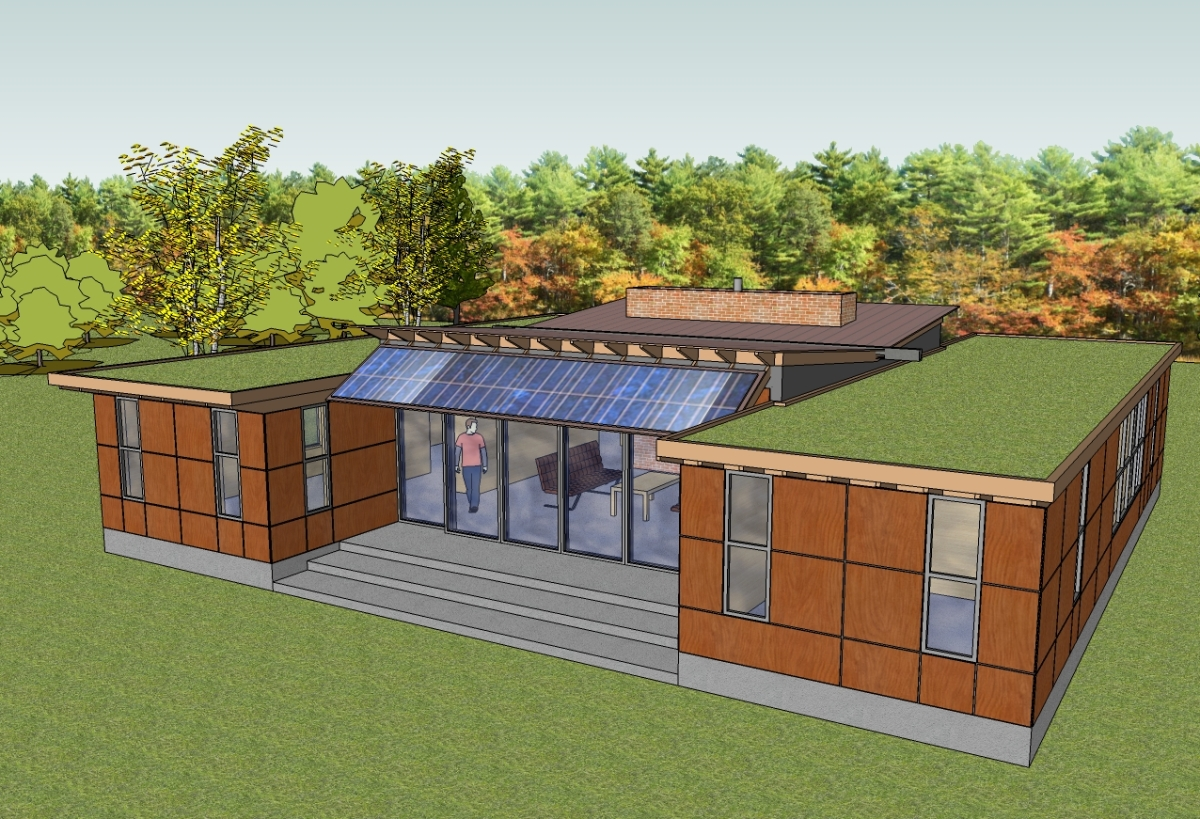 Trillium Architects H house 1 story modern exter rear of house plans