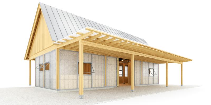 Trillium Architects exterior urban shed rear plans