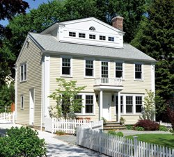 """After years of wind, Arctic drafts and sky-high oil and electricity bills, a Darien couple embarked on a """"green"""" project to make their uninsulated old house as energy-efficient and environmentally friendly as possible.  Jeanna Shepard"""