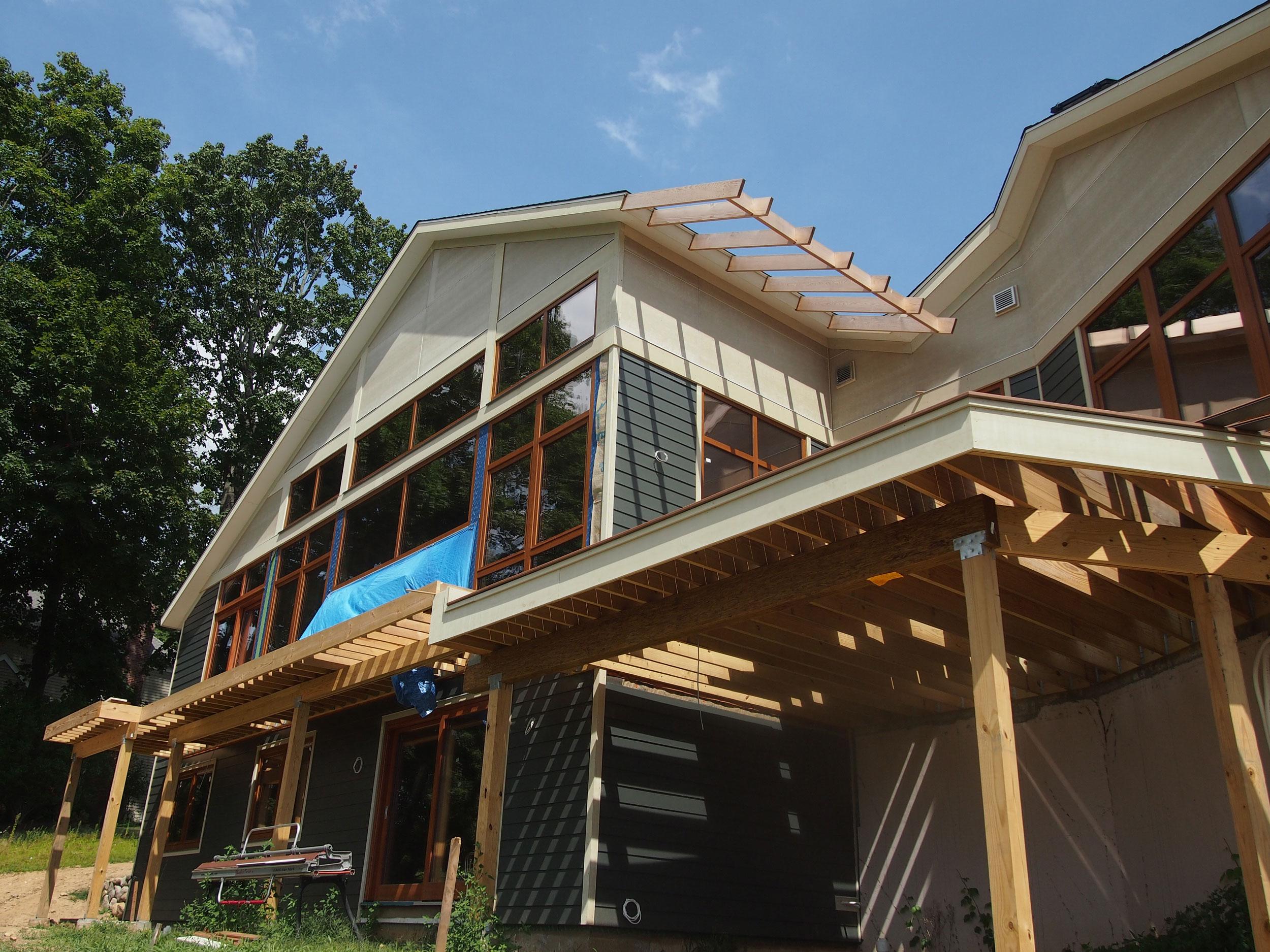 A Ridgefield (green) dream home under construction.
