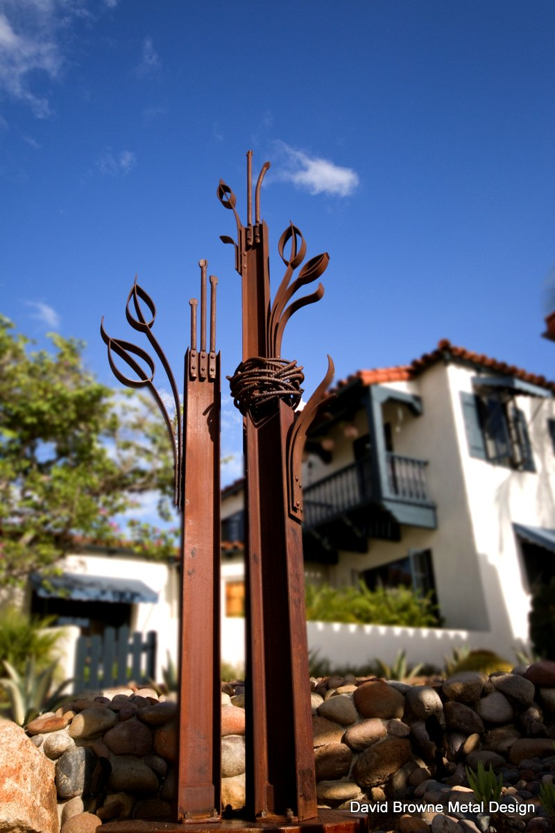 I-beam trees sculpture