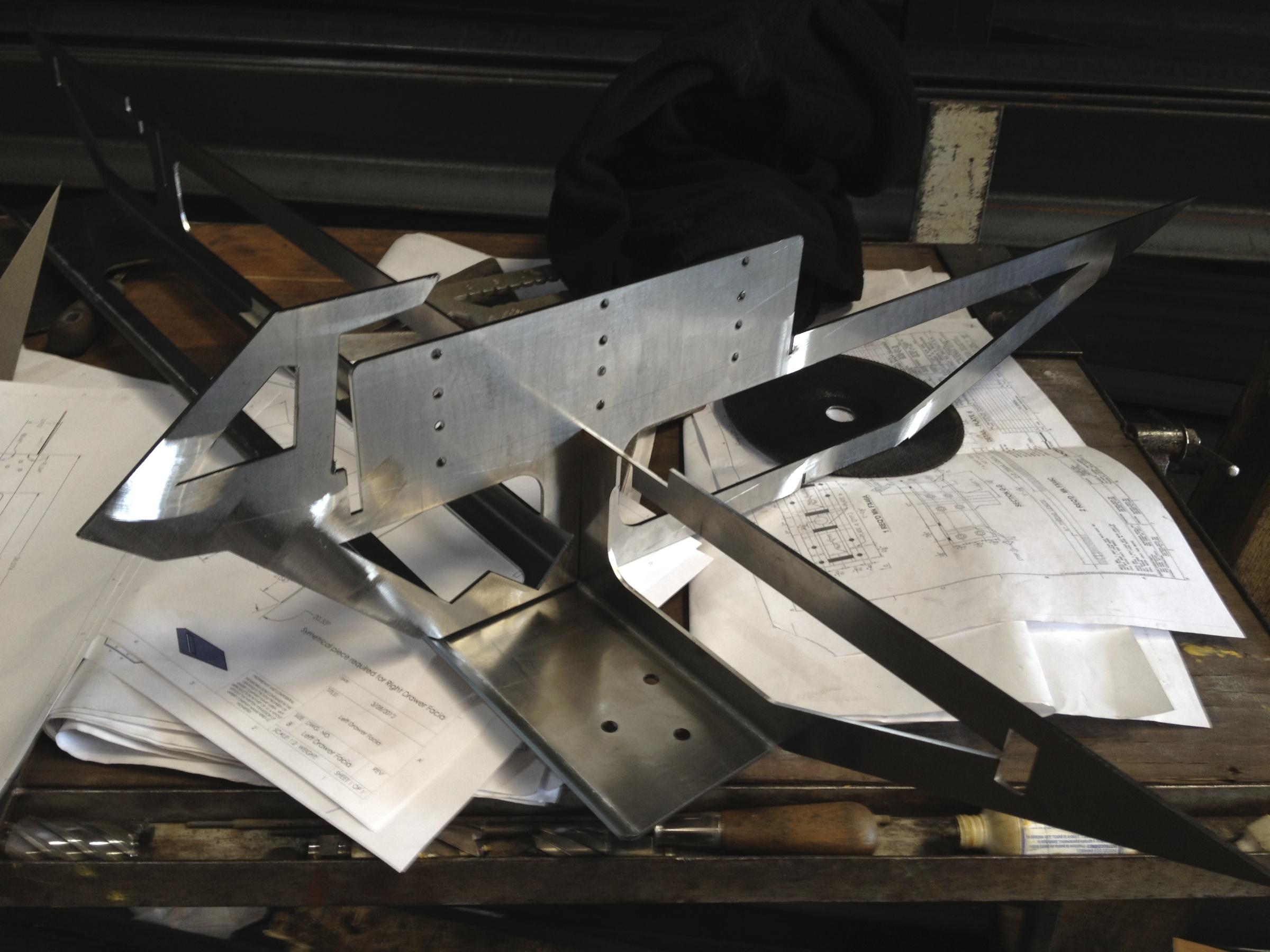 Bent Sheet Metal parts coming together