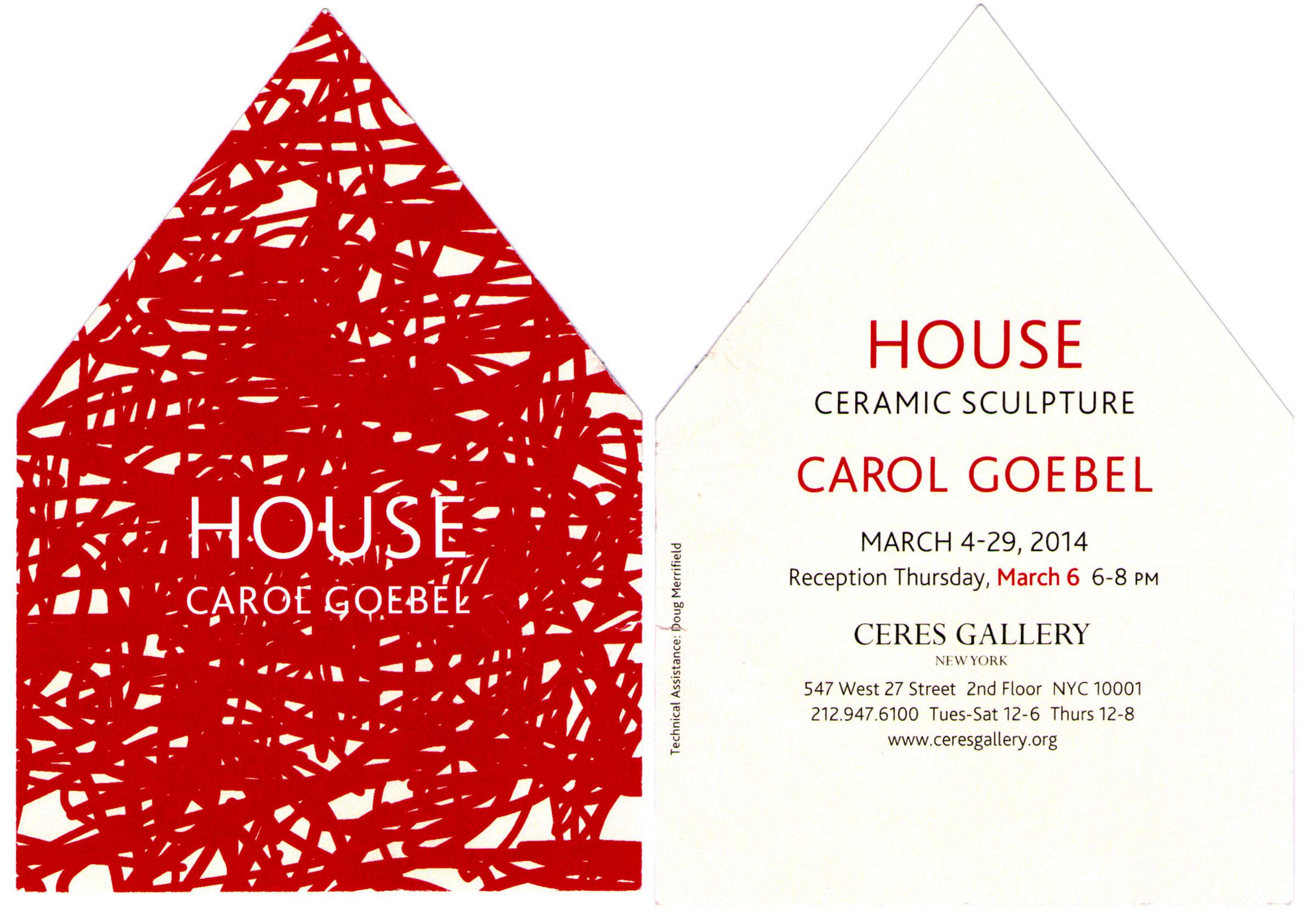 Carol Goebel - House - Ceramic Sculpture - Information Card