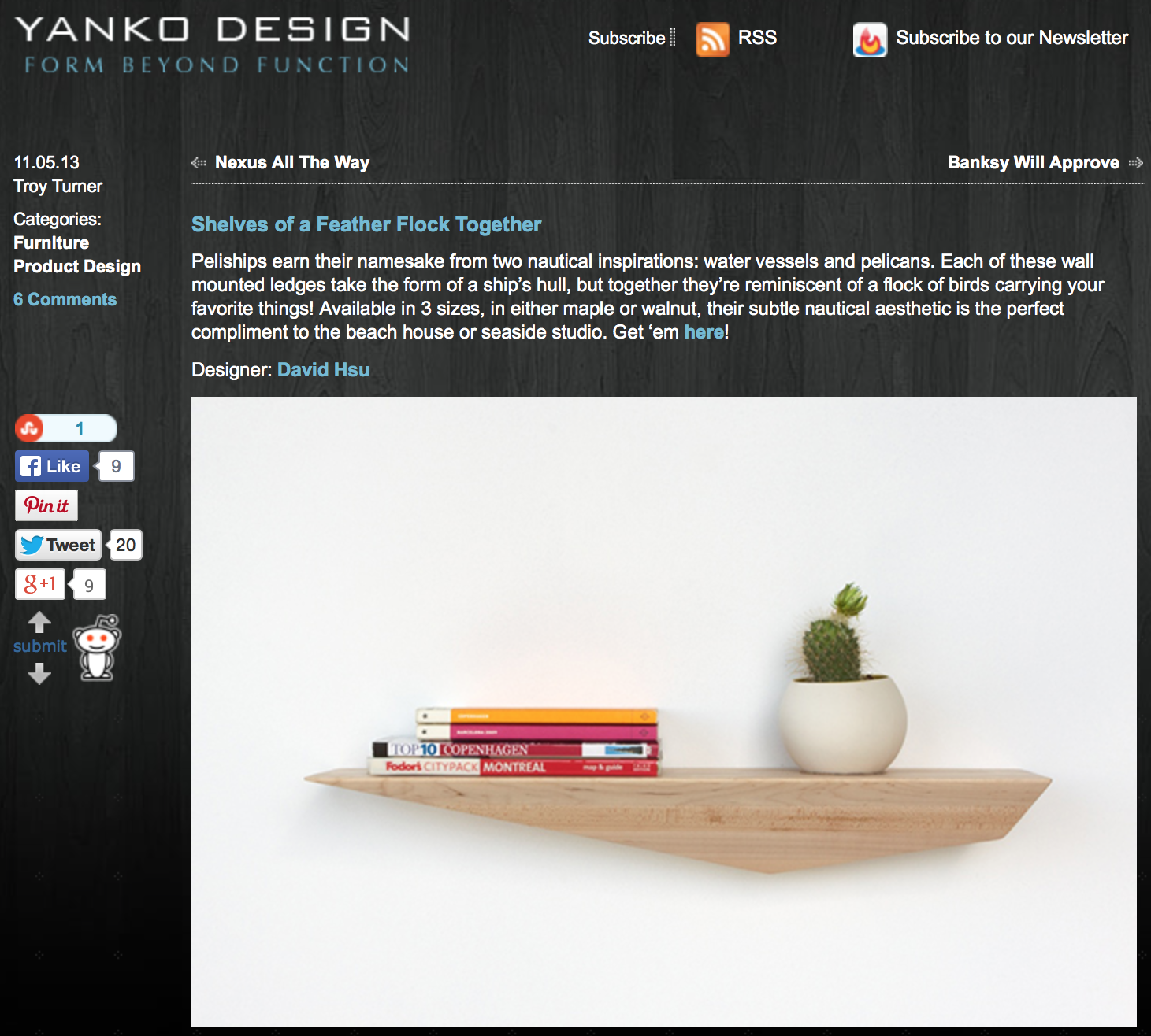 Peliships featured on Yanko Design