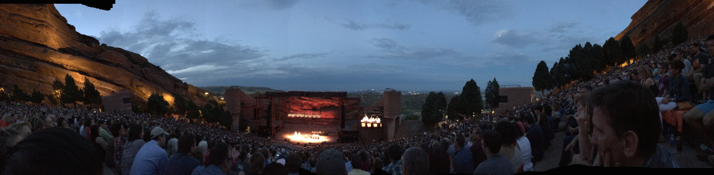 "A night at Red Rock Amphitheater with NPR's ""Wait Wait Don't Tell Me""."