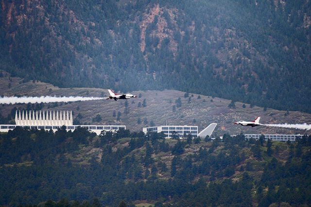 Welcome @afthunderbirds to @af_academy. We've missed you. Much ❤️, #usafa #coloradosprings #colorado