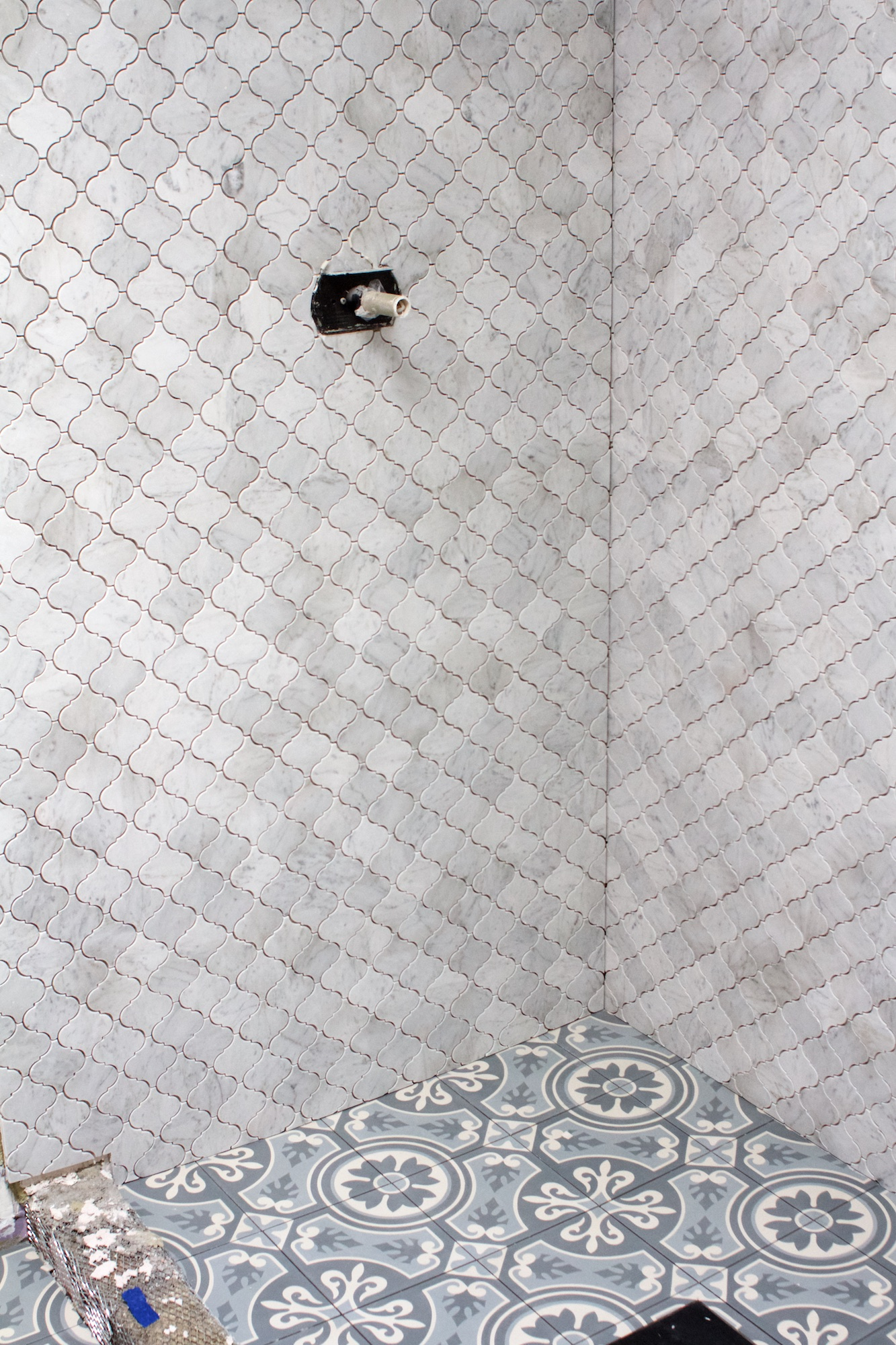 New tile in guest bath