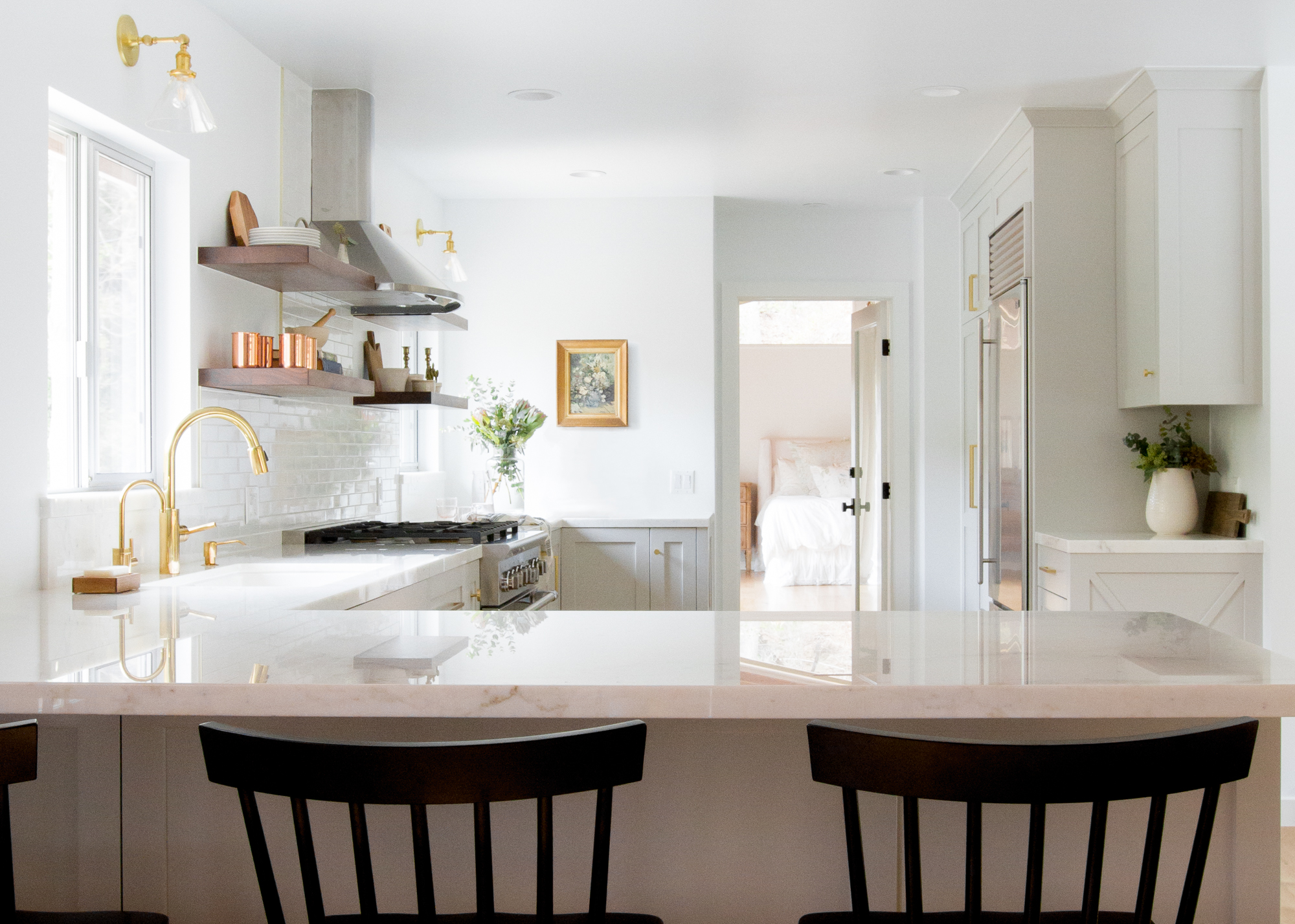 Topanga Canyon Modern Farmhouse Kitchen - Lauren Bradshaw Design