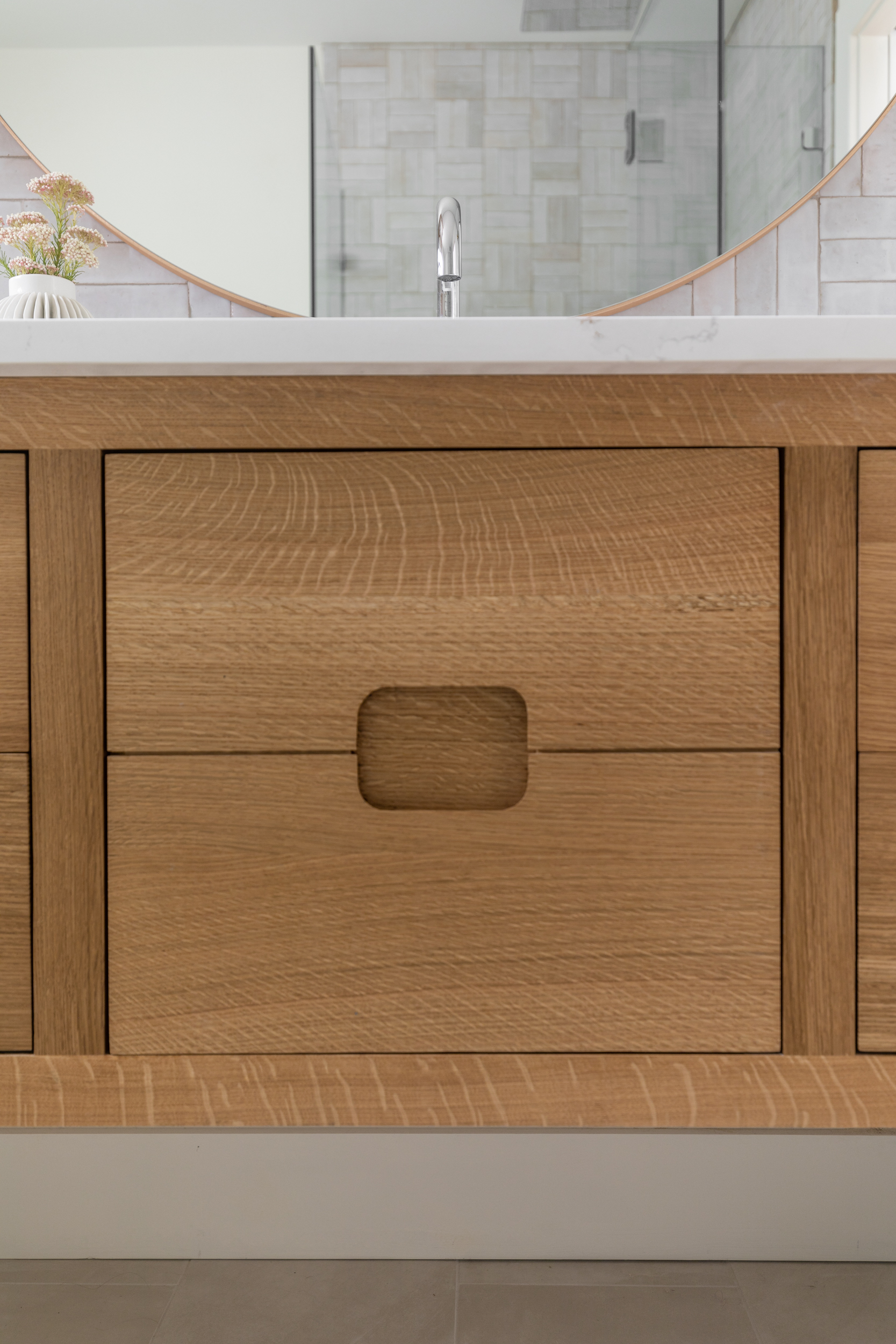 Lauren Bradshaw Design Master Bathroom White Oak Vanity