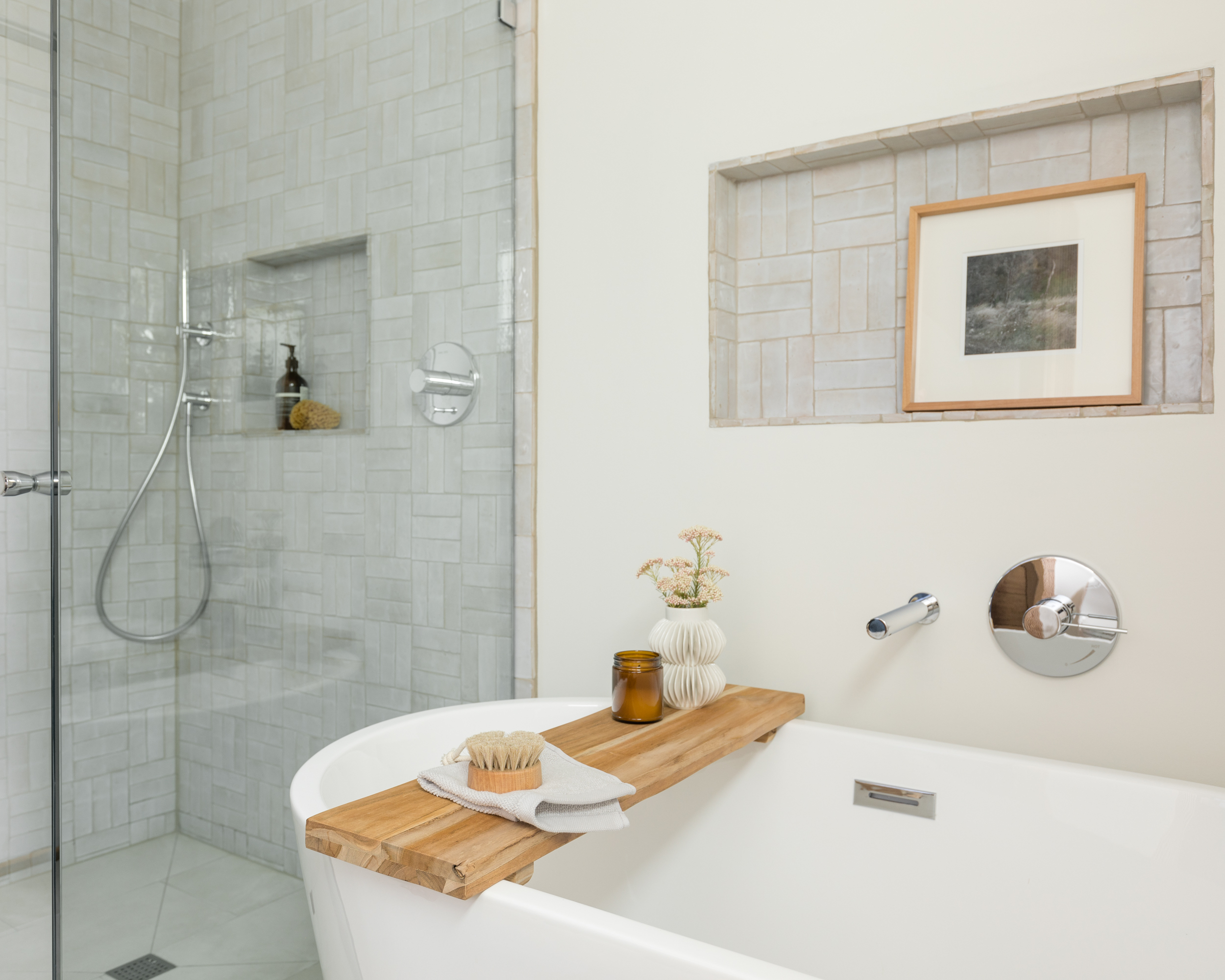 Lauren Bradshaw Design Master Bath Tub Shower Renovation
