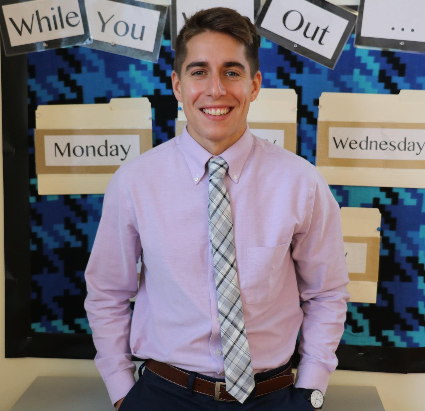 Sean Mulvihill     -  Camp Director, 7th grade English and Social Studies  B.A. University of Virginia 410-539--8268 ext. 513