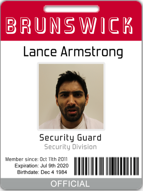 "Lance ""Dewey"" Armstrong is all business. He represents the insane number of security levels and protocol that are instituted at all nuclear power plants."
