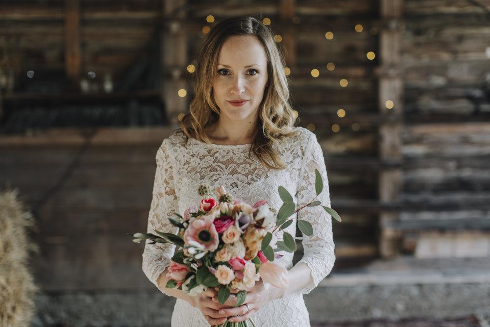 Brudbukett, Skillad florals, Stockholm