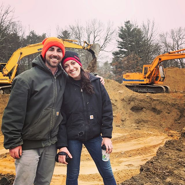Breaking ground at the pond!