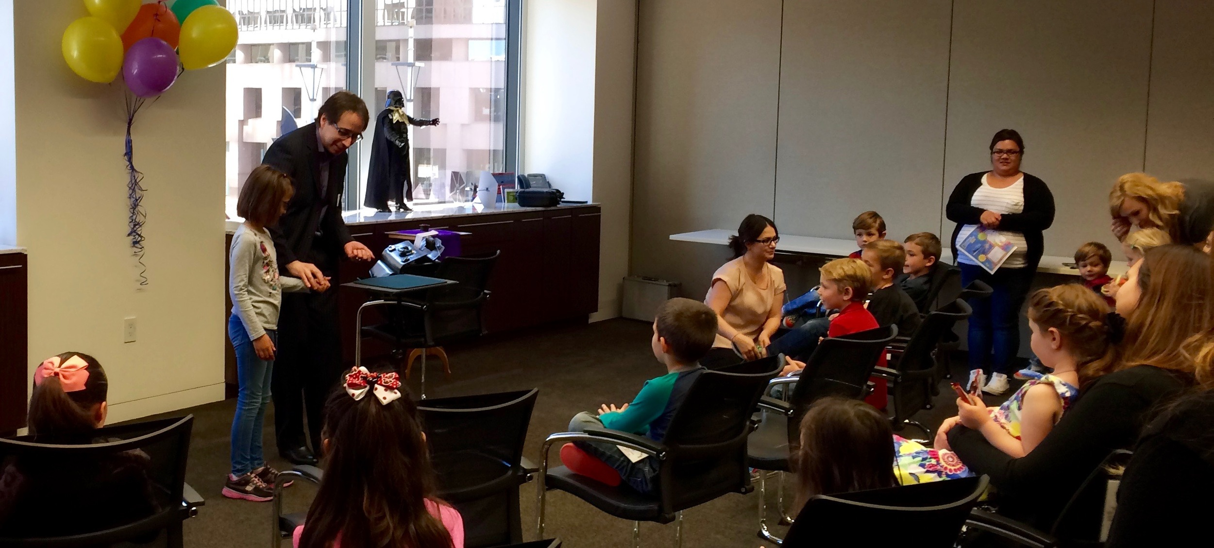bring your kids to work magic show