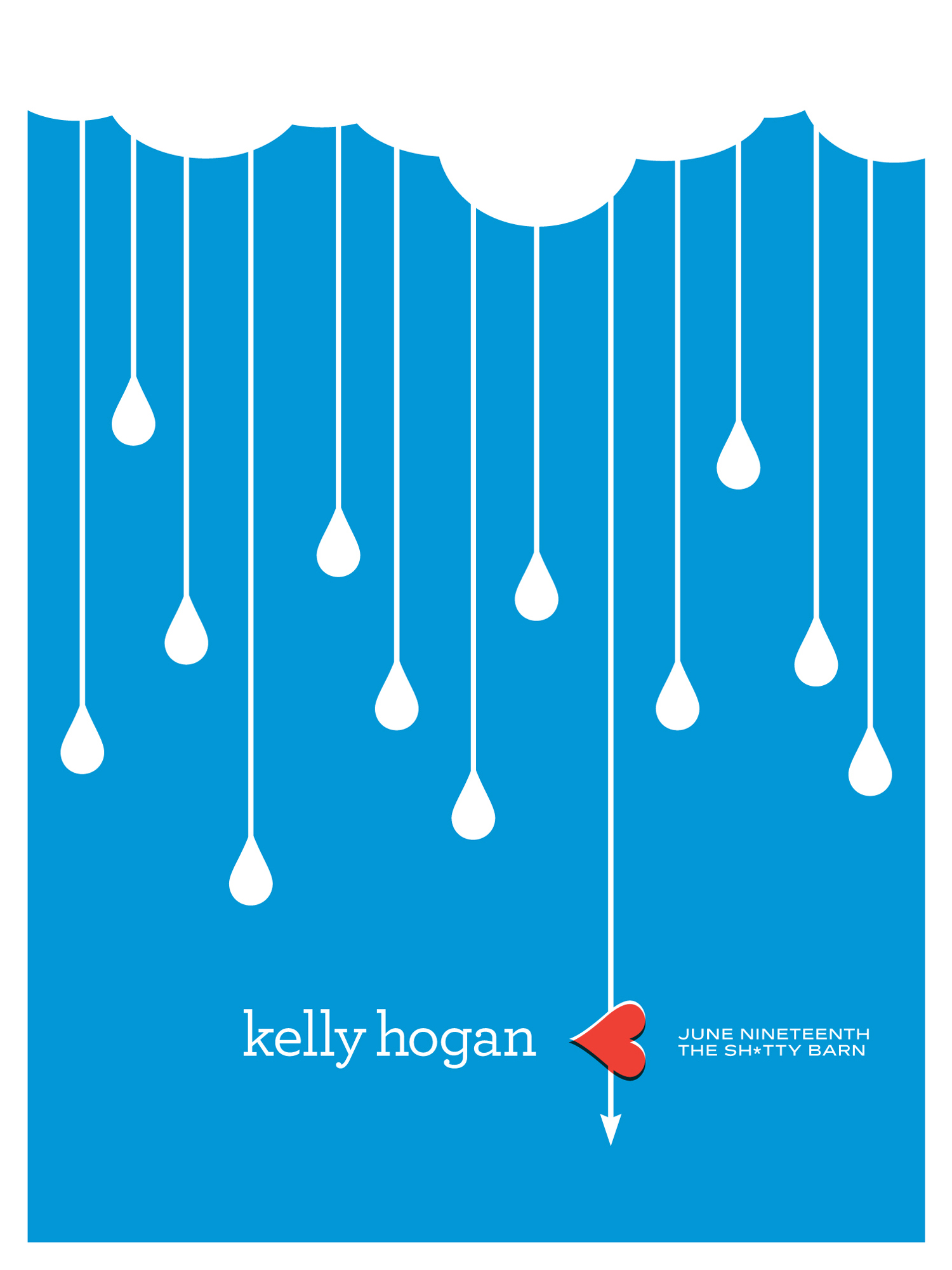 Shitty Barn Sessions — Kelly Hogan Poster