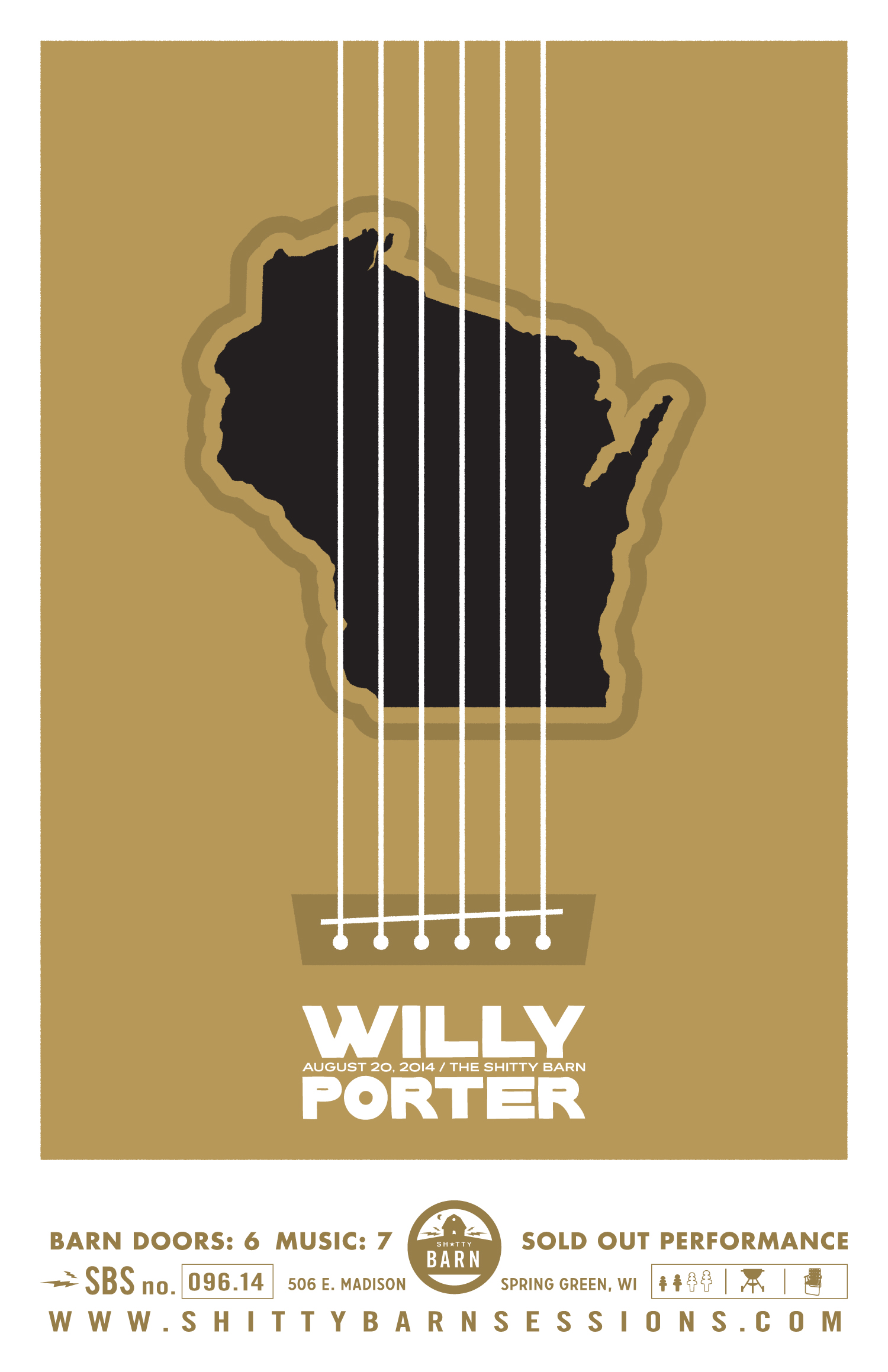 Shitty Barn Sessions — Willy Porter Poster