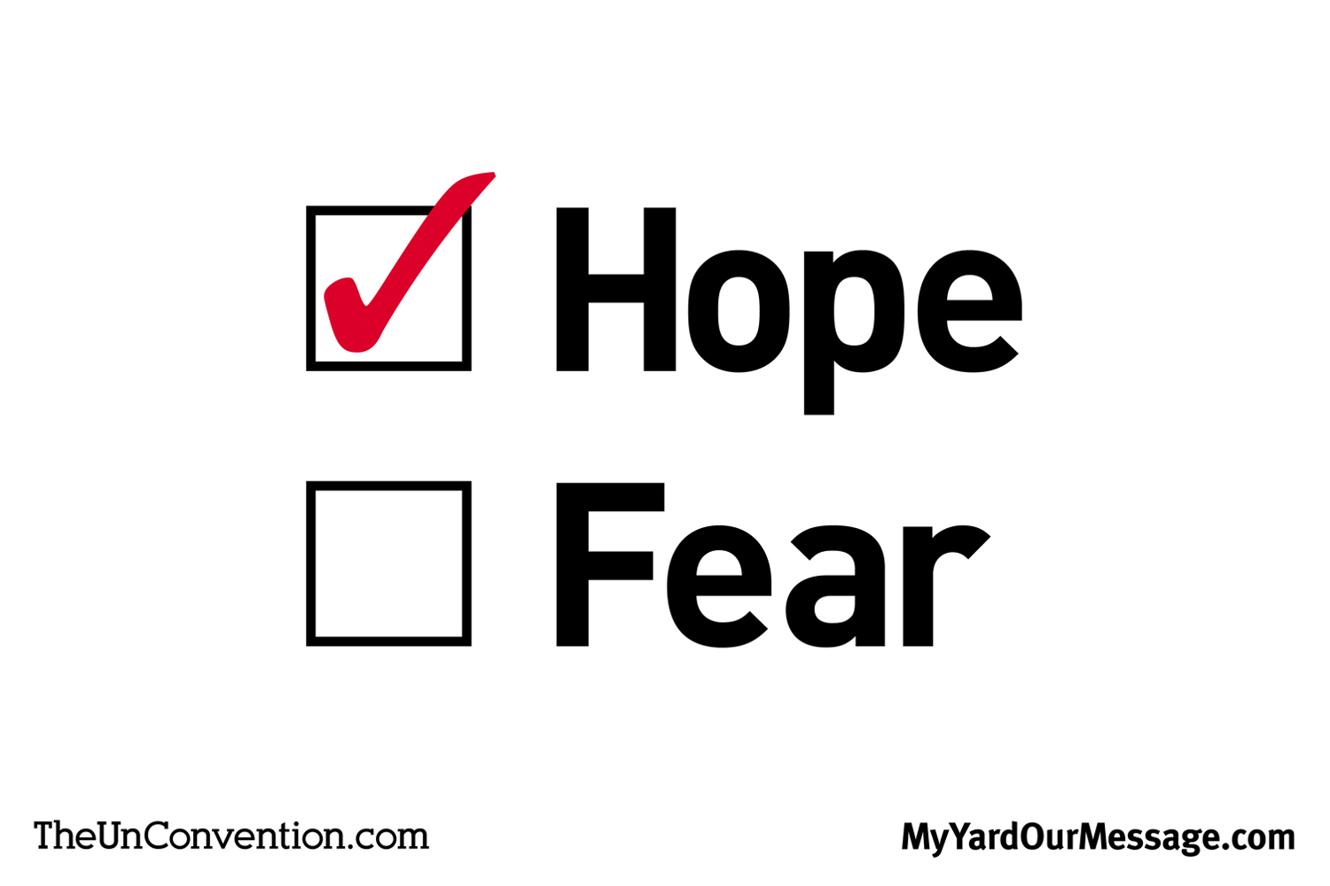 Hope vs. Fear