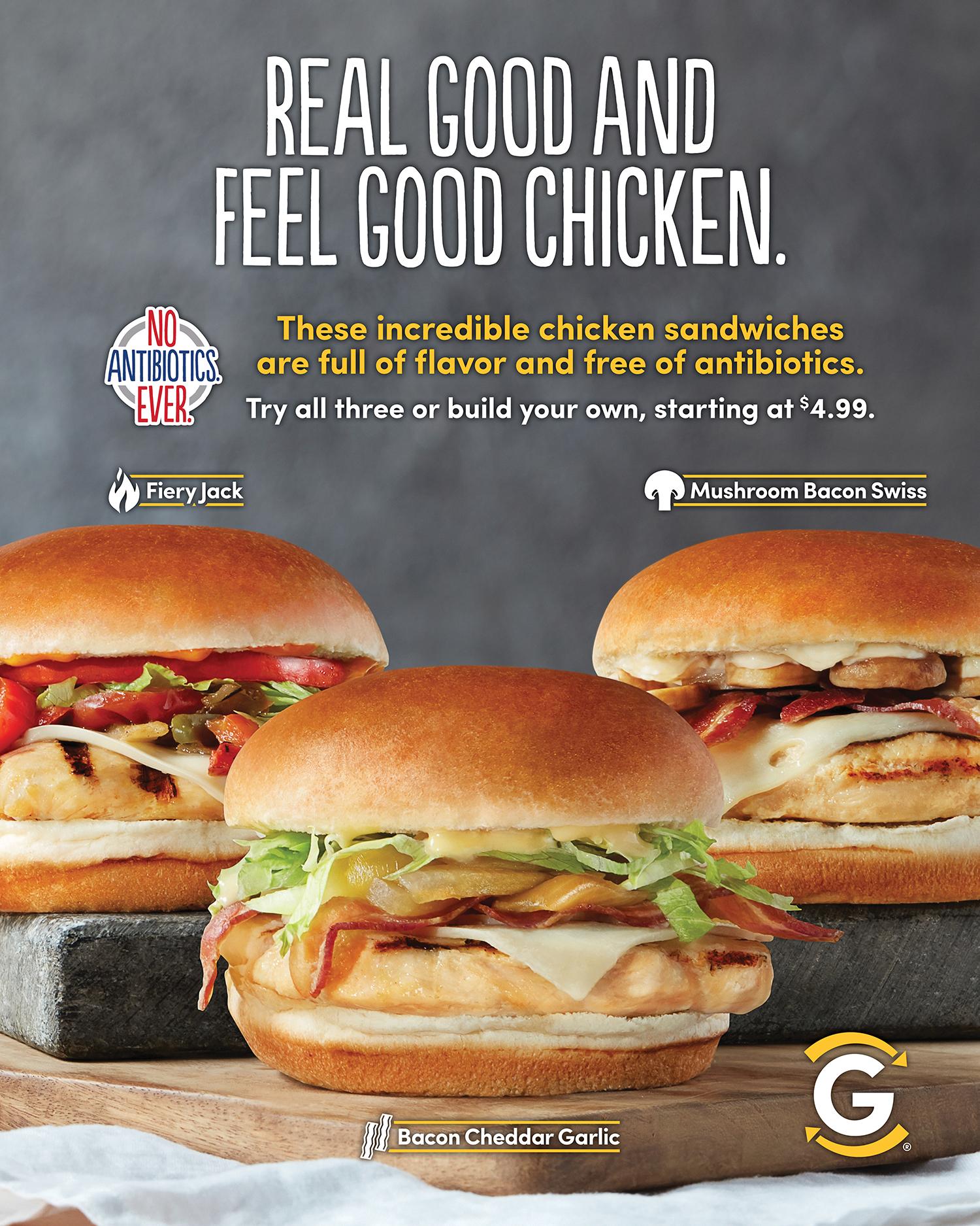 NAE Grilled Chicken Sandwiches