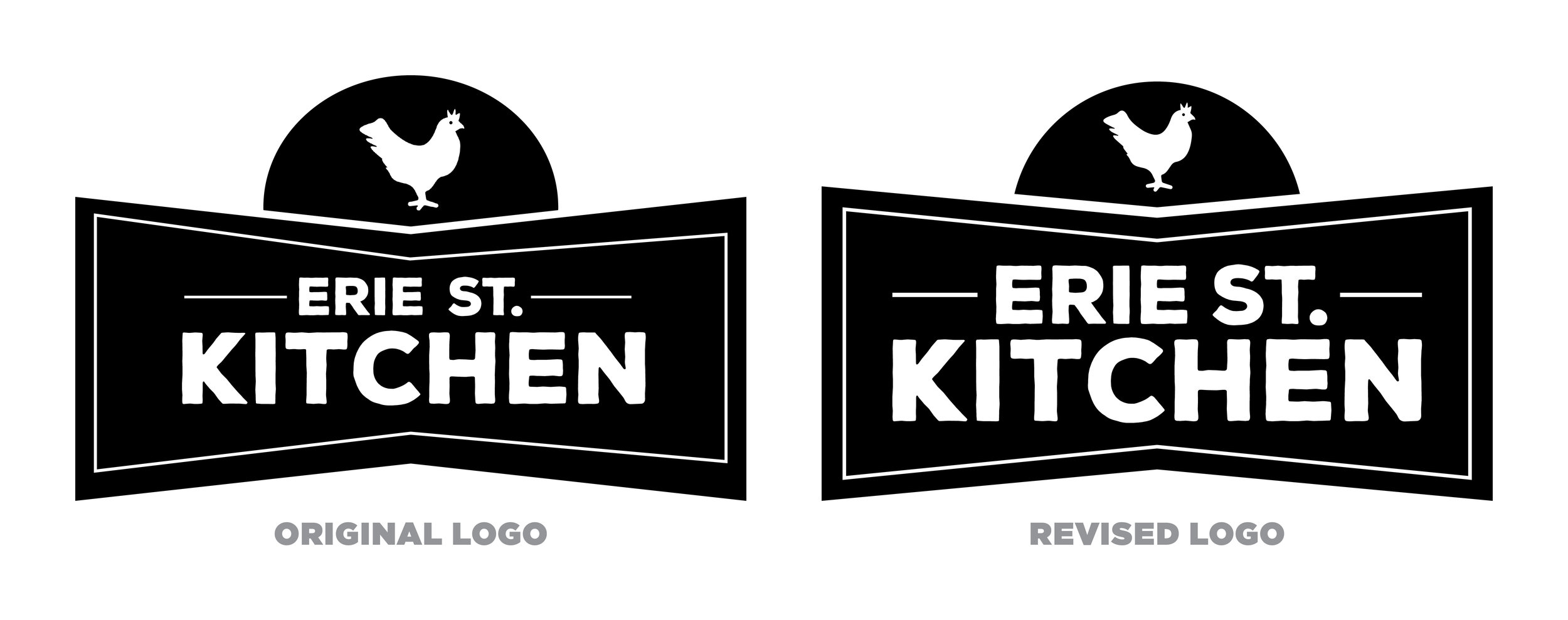 Erie Street Kitchen — Logo Comparison