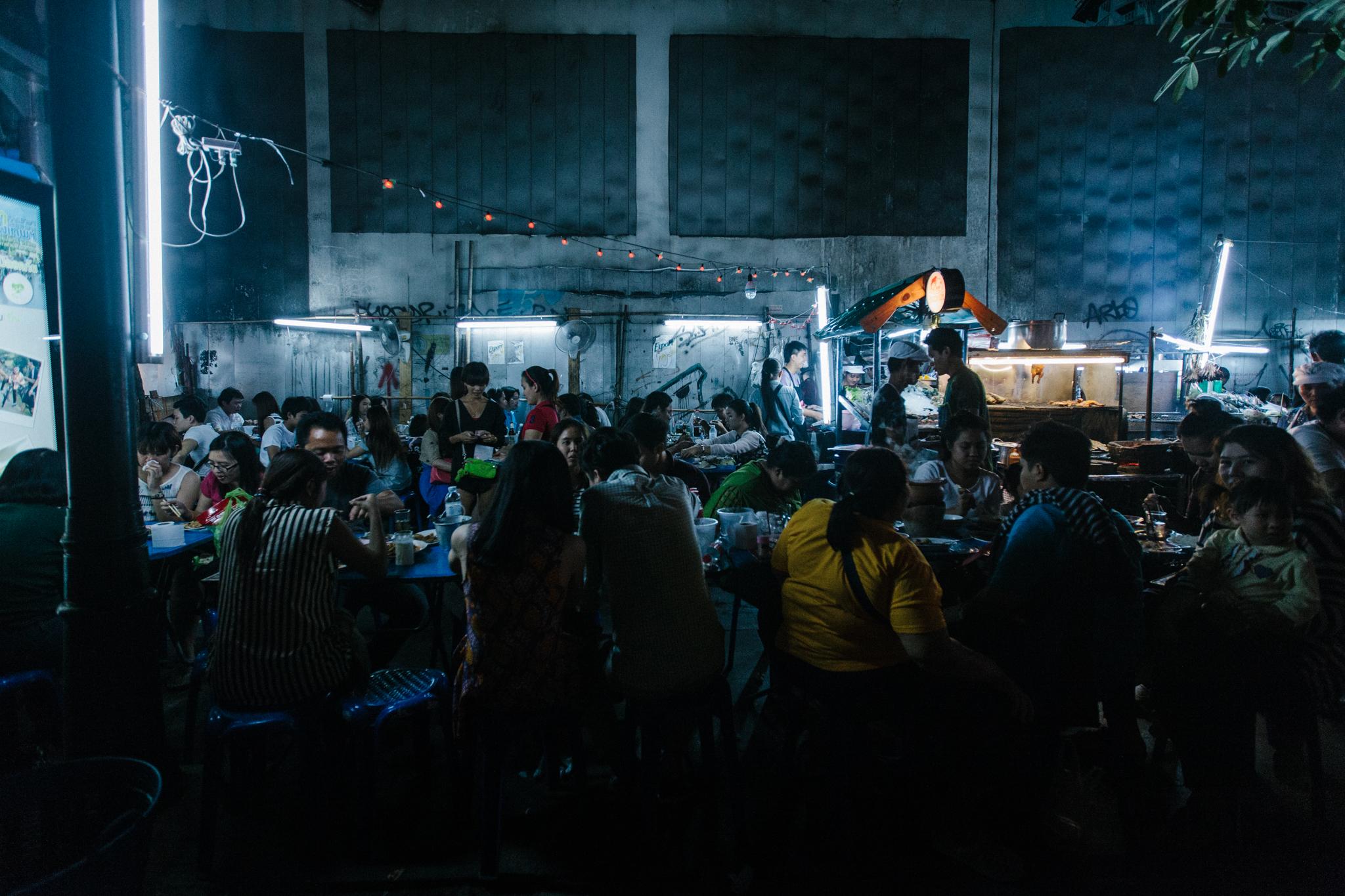 Street food is everywhere in Bangkok, Thailand.