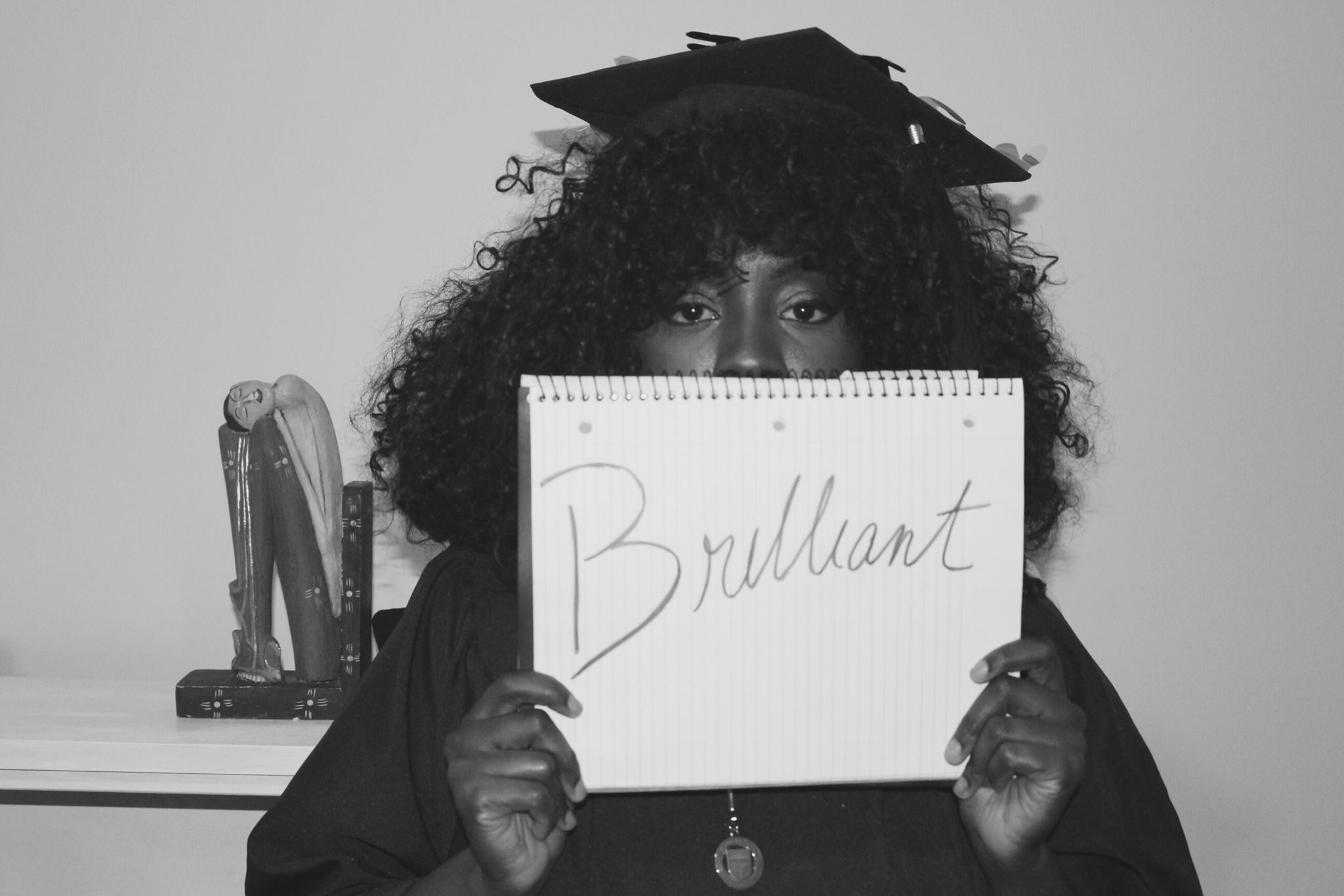 Day 15 of 31 Days a Woman, which also happened to be the day of my graduation from Rutgers University. The word of the day was brilliant.