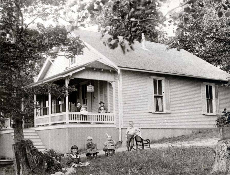 The oldest picture we have of the home, 814 east shore drive, taken sometime between 1889 and the 1920's when a second story was added. We use it for clues and for style inspiration.