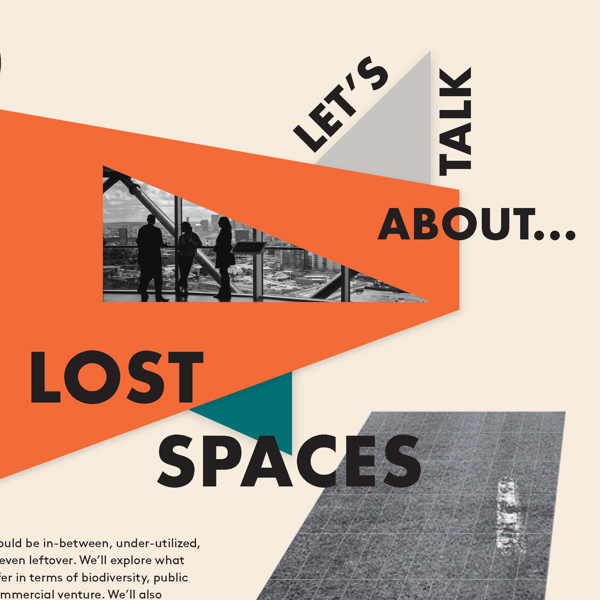 Let's talk about...lost spaces (poster: Alex Ferko)