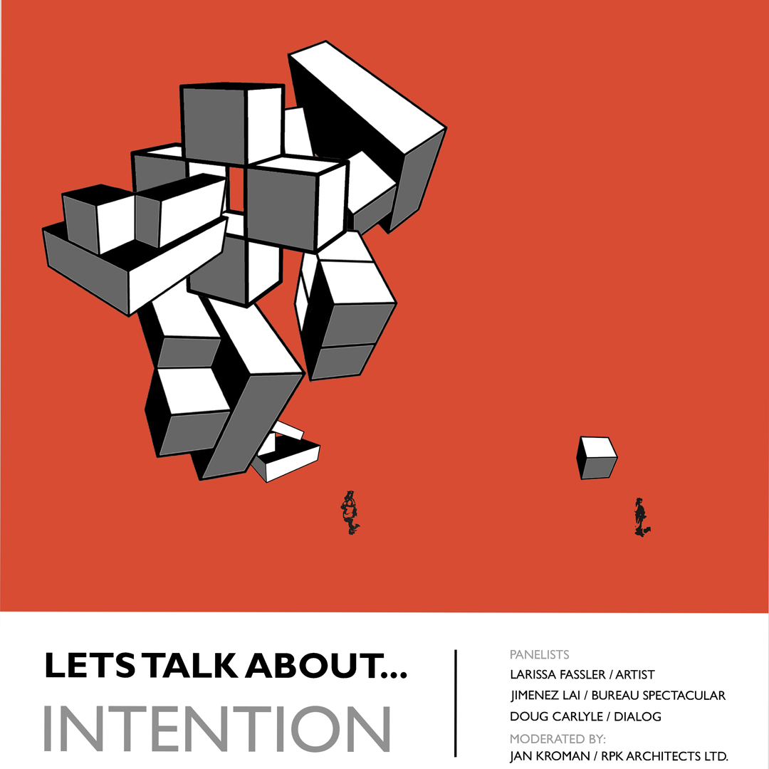 Let's talk about...intention (poster: Cam Christiansen)