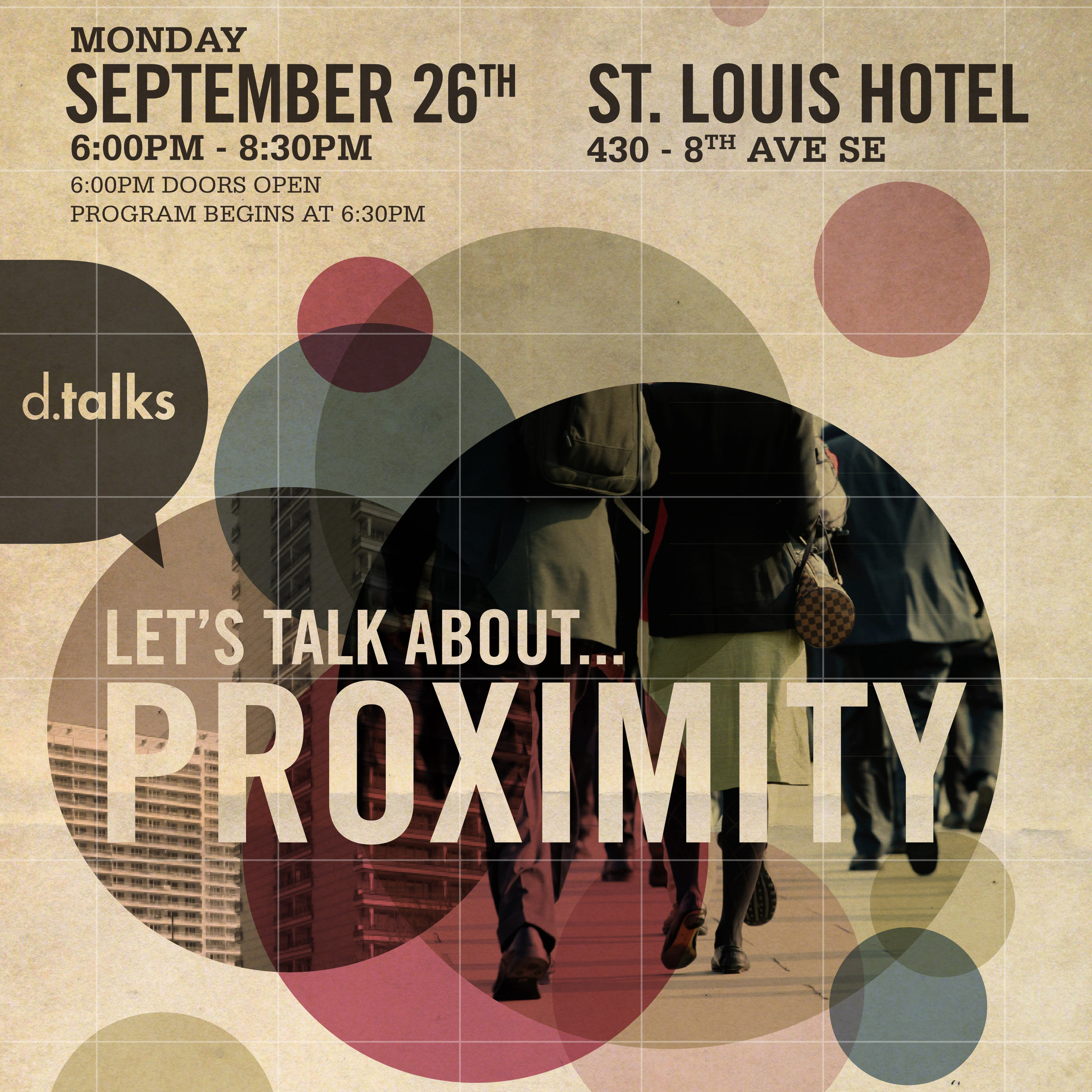 Let's talk about...proximity  (poster: Good Company)
