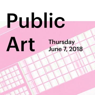 Let's talk about...public art (poster: Alex Ferko)