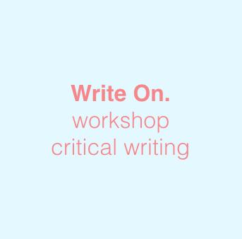 Write On. Workshops running Fall 2018