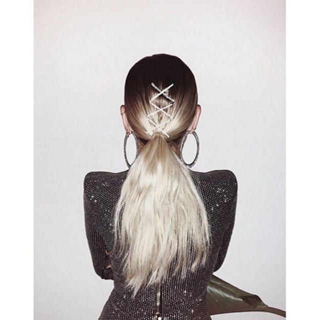DANIELLE BERNSTEIN / WE WORE WHAT    Sparkle Princess bobby pins  featured on celebrity fashion blogger Danielle Bernstein of We Wore What. (Photo Credit: @weworewhat).