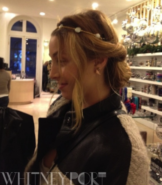 WHITNEY PORT   Actress Whitney Port was spotted in a pearl Band of Gold adjustable headband from Dauphines of New York  while shopping at luxury department store Henri Bendel, one of the earliest stores to offer Dauphines.