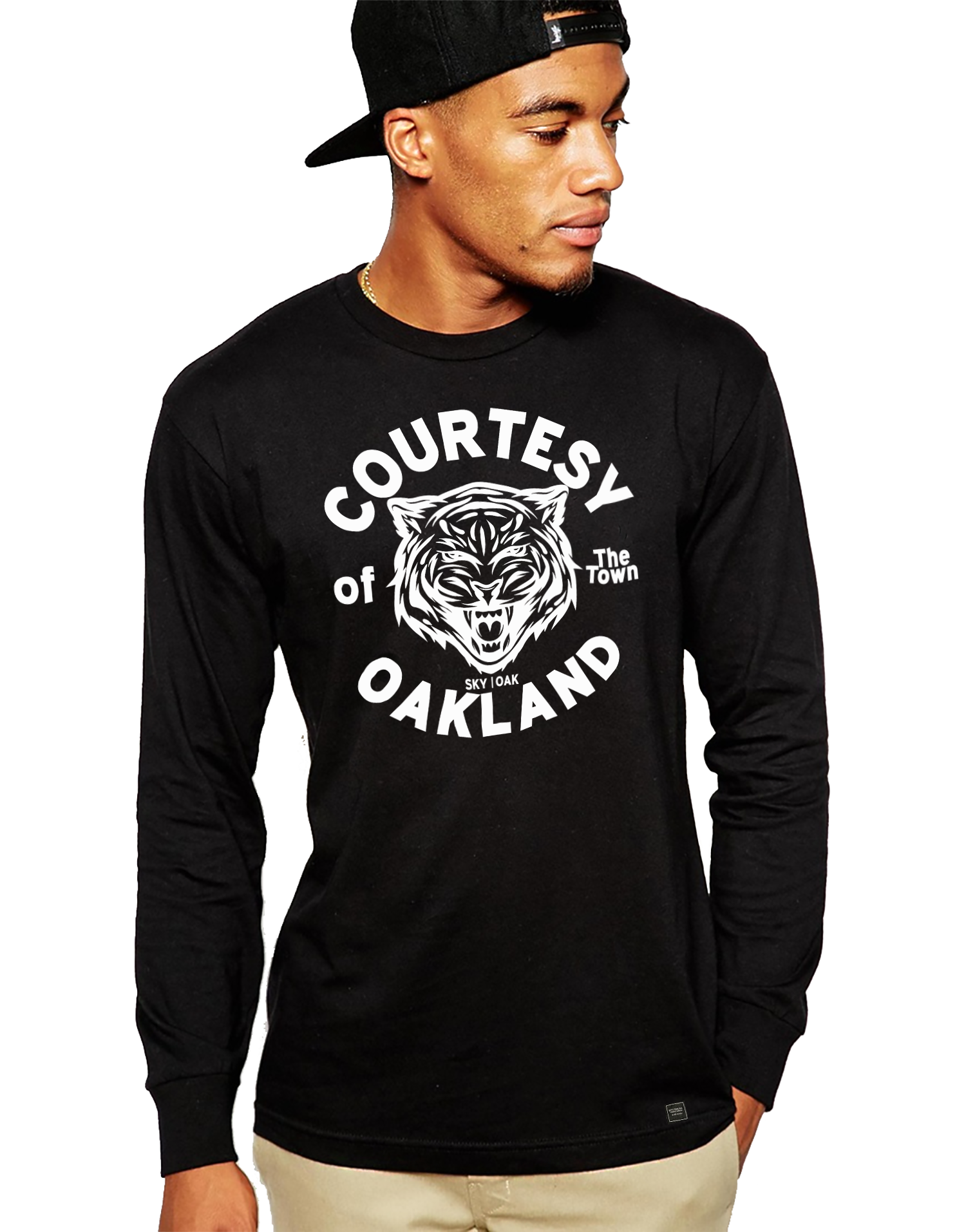 Sky Oak Co_Courtesy of Oakland_long_sleeve_tee_black_white_model_home_page_cover.png