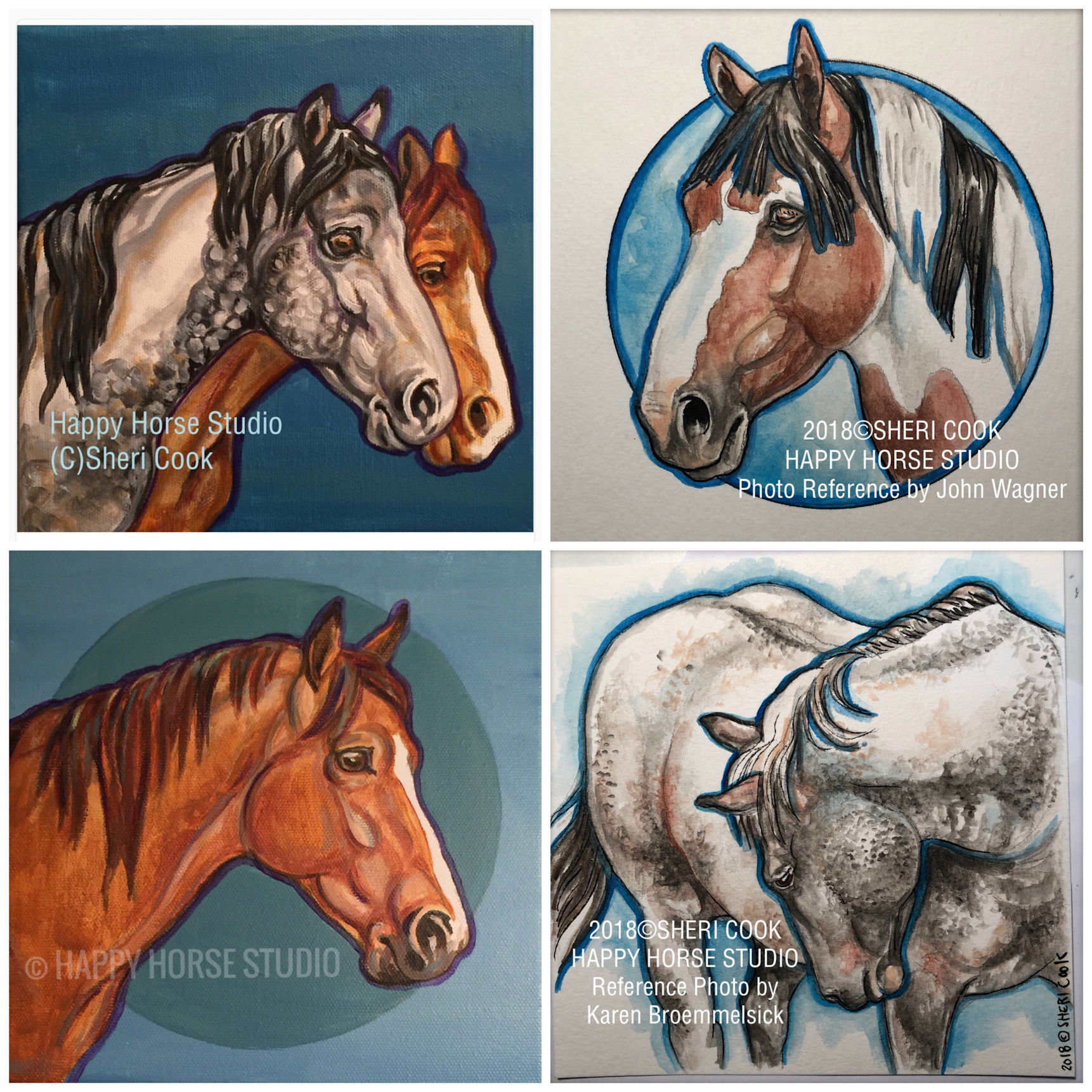 Offering Equine Art in Acrylics or Watercolors to COLLECT!