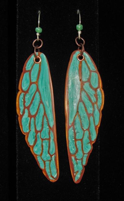 Katydid earrings