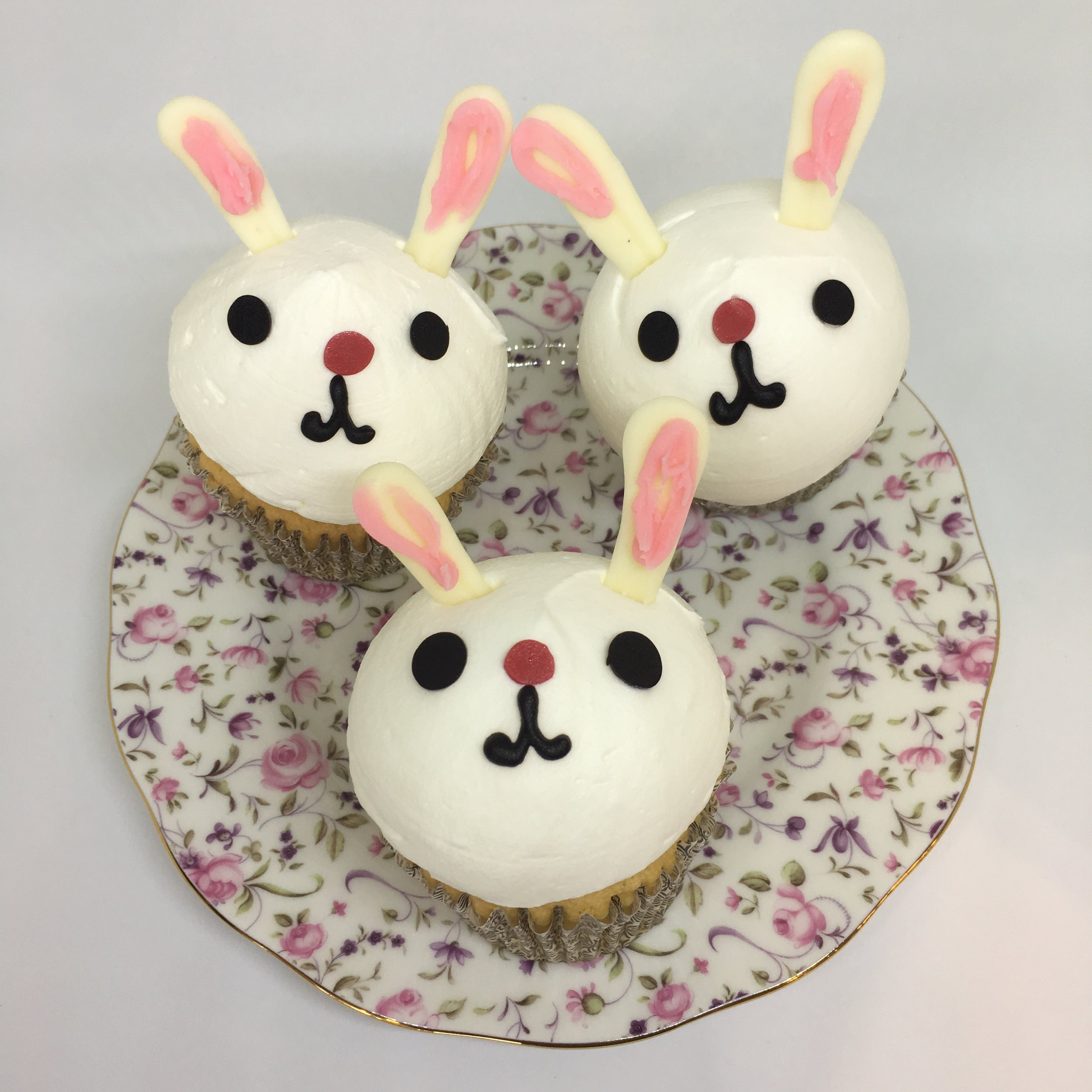 BUNNY CUPCAKE with heavy cream topping (available at Kam Shopping Center location only)