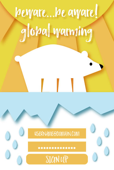 "Had a great time with this, inspired by environmental issues, beware, be aware of global warming. Also, fun fact: Polar Bears actively hunt humans!? (Why I added the ""beware"") My personal thoughts, let us respect nature..I still love them."