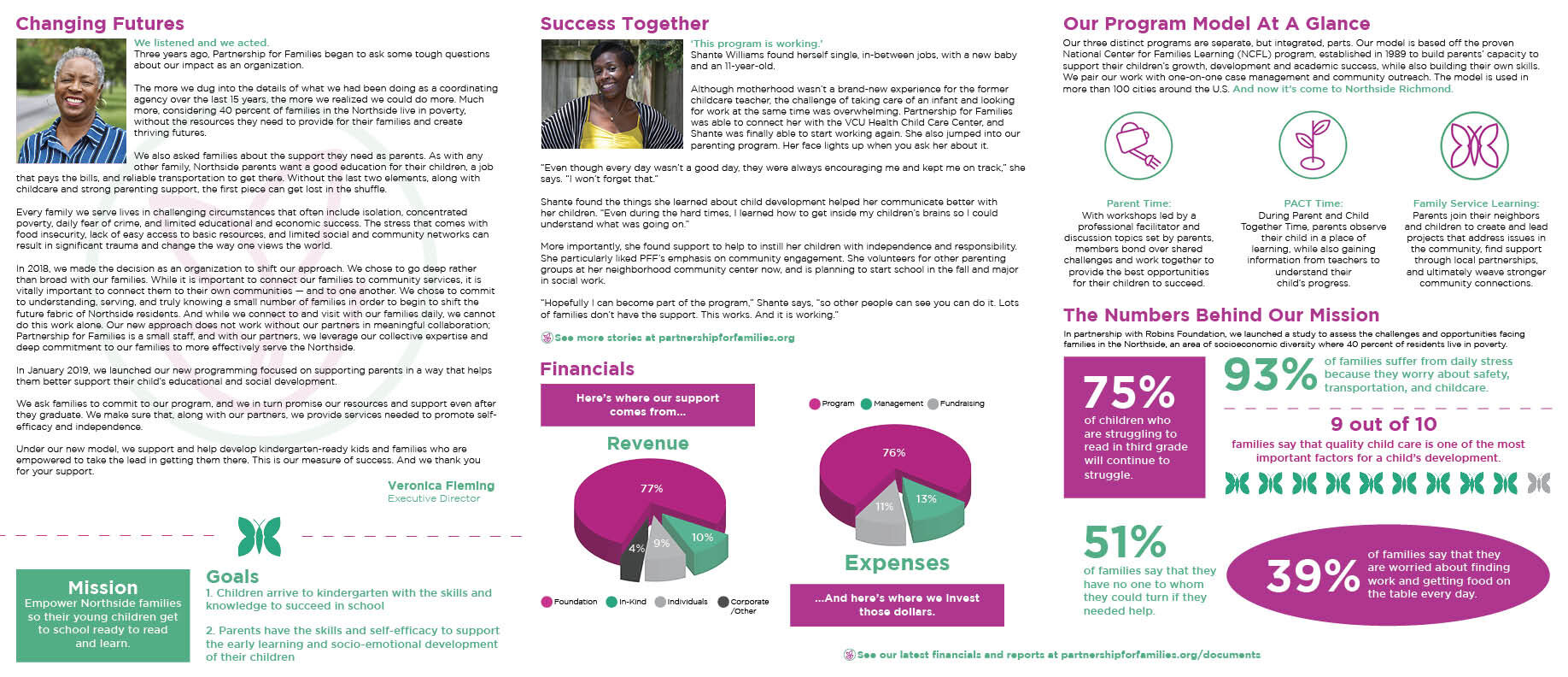 Partnership For Families Annual Report