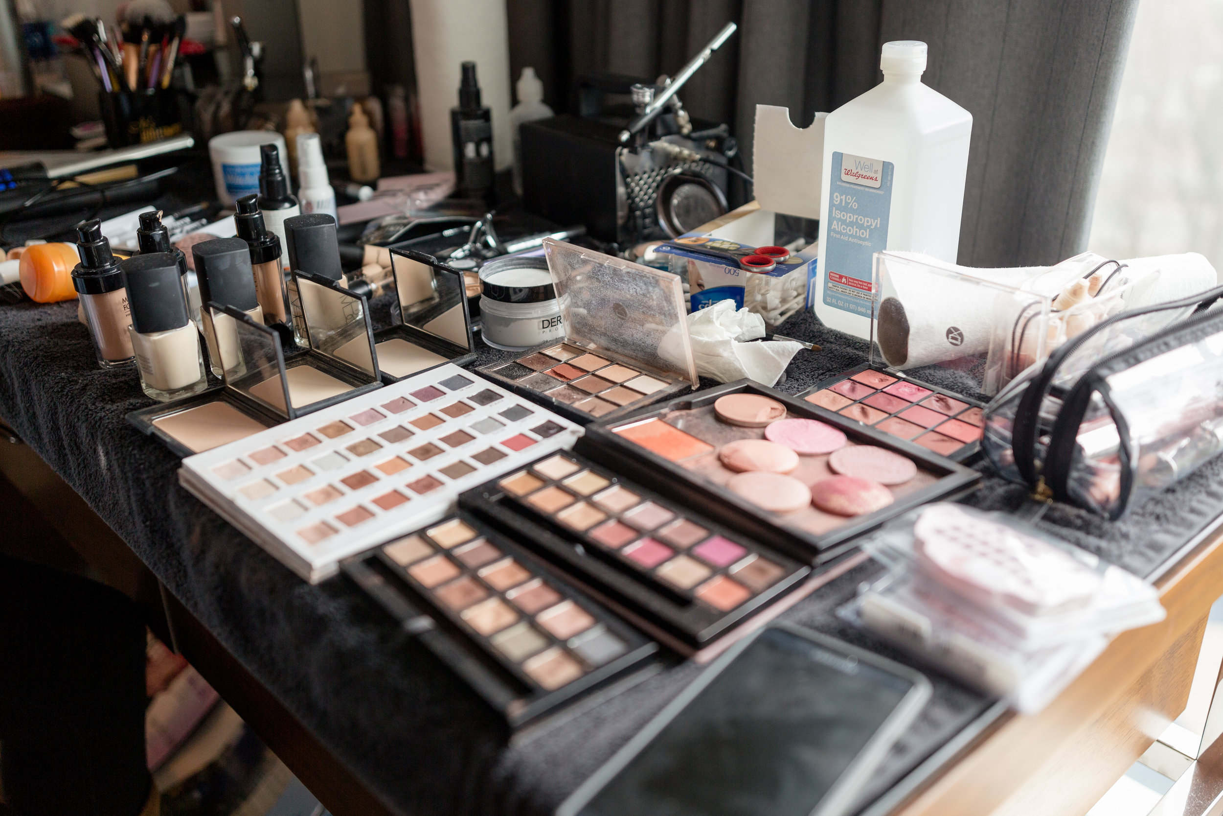 Professional Makeup Artist Set Up