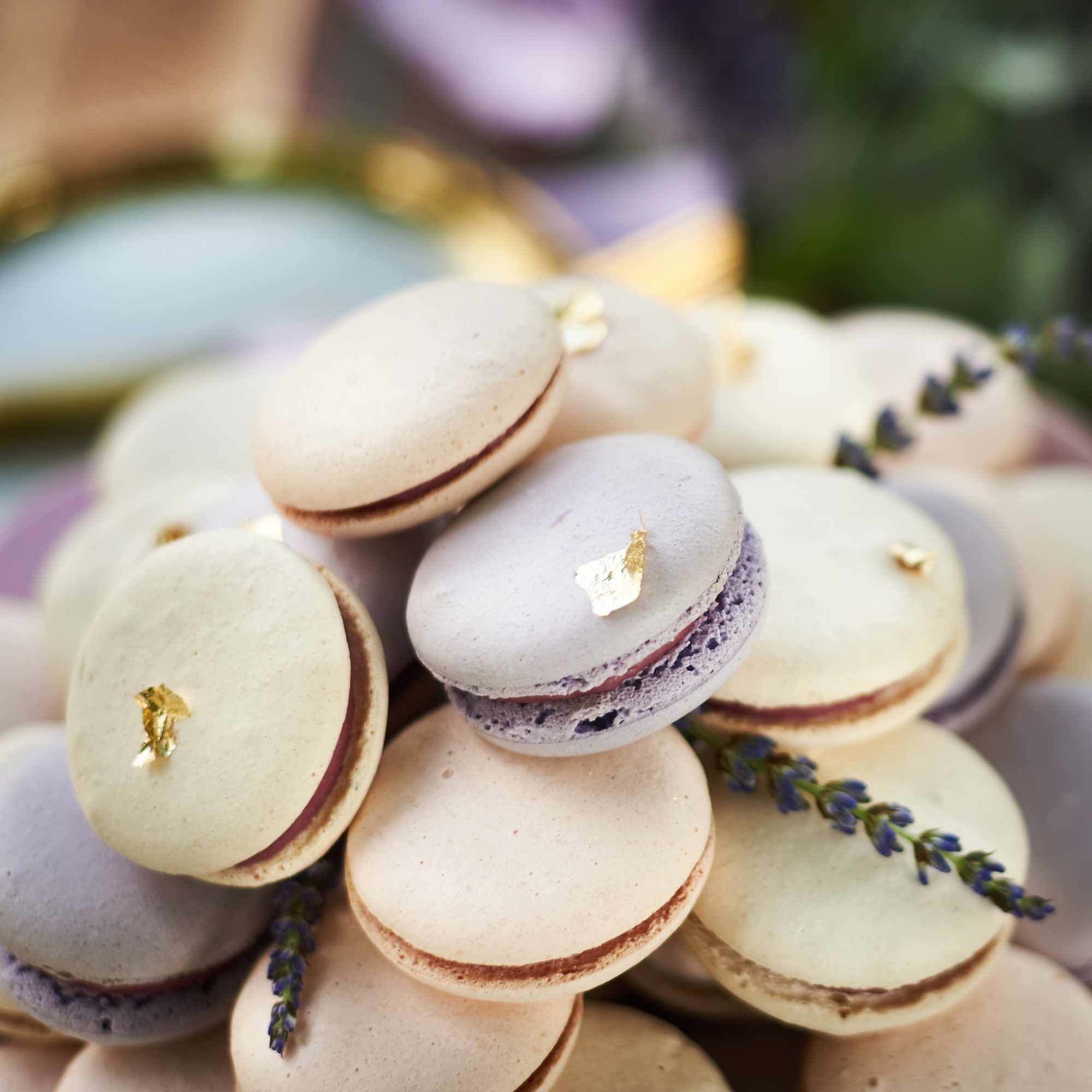 Wedding macaroons at Sault Restaurant