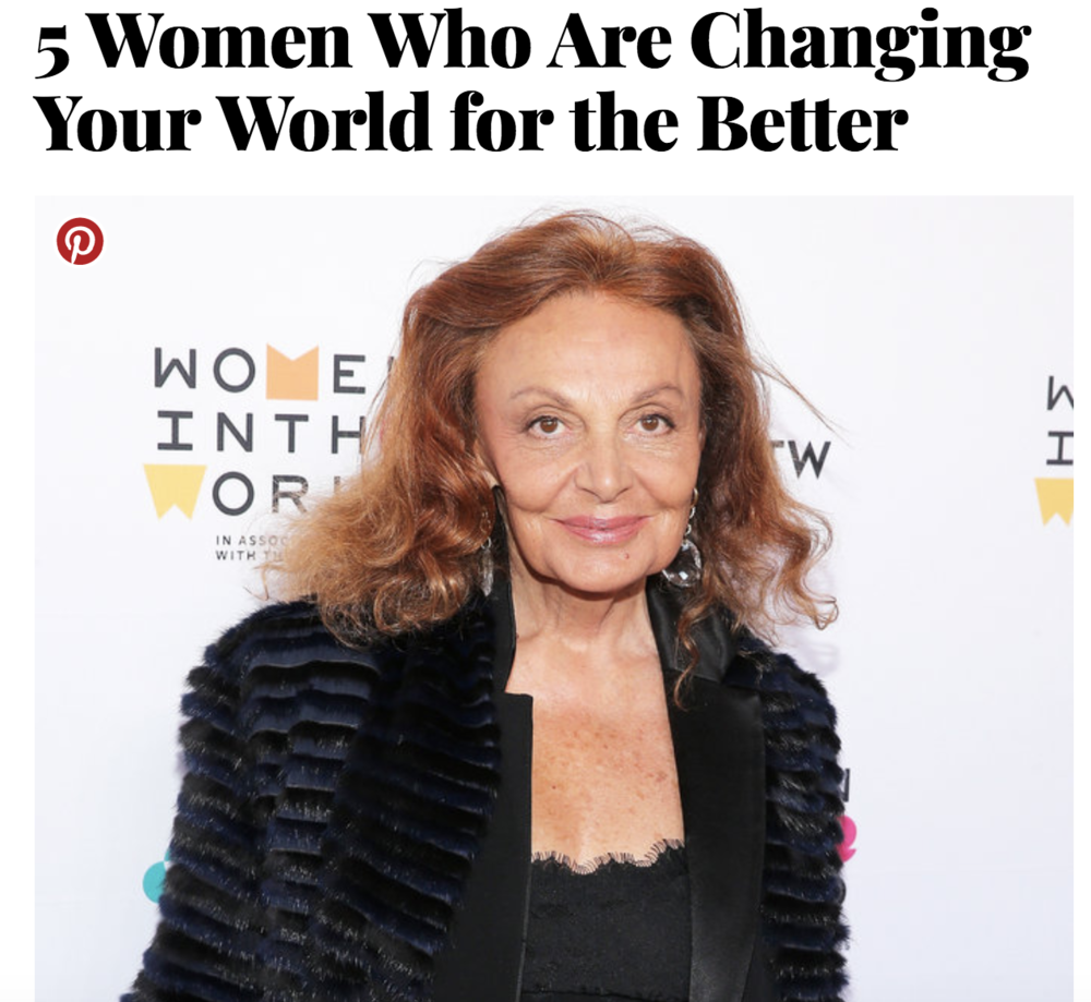 """Click to see video of DVF  """"People's Voice Award """" nomination."""