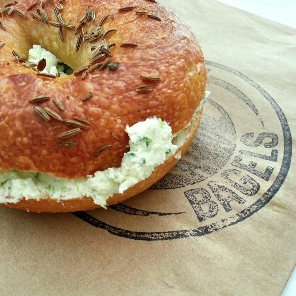 Artisan bagels and schmears