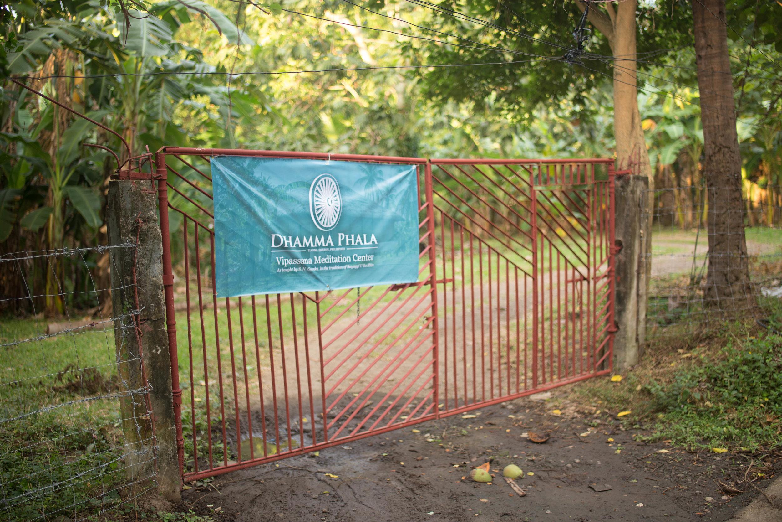 Entrance to Dhamma Phala Vipassana Meditation Center